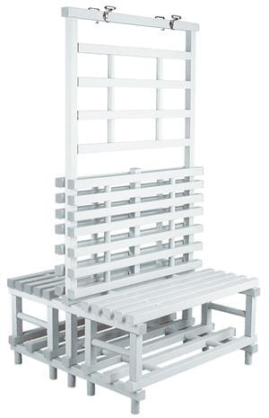 PADP model bench with wall rack