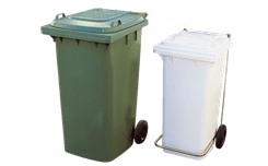 Sorted waste collection containers